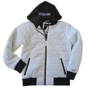 HOLLISTER Men's  Hooded Bomber Jacket size: XS